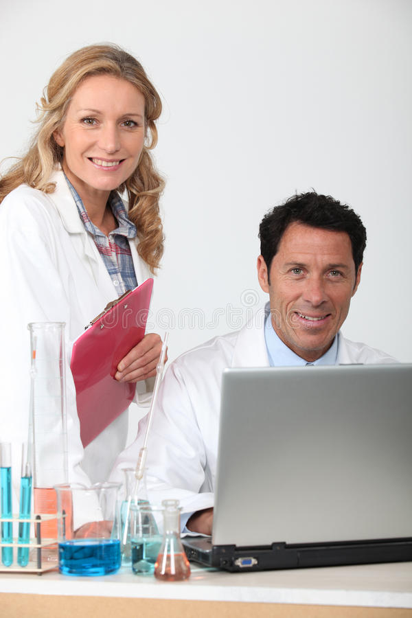 Scientists royalty free stock photos