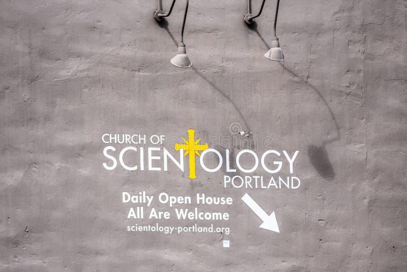 Scientology sztandar na ścianie zdjęcie royalty free