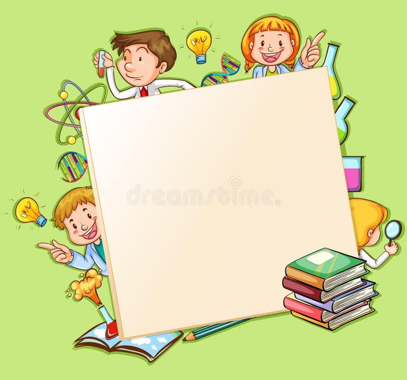 Download Scienza illustrazione vettoriale. Illustrazione di ragazzo - 55365247