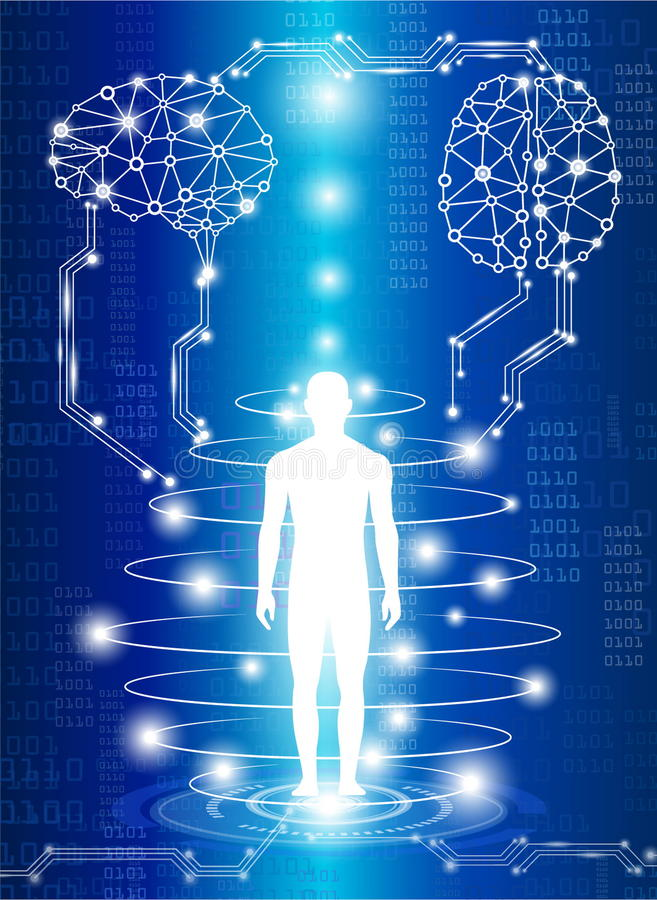 Scienza medica di tecnologia illustrazione di stock
