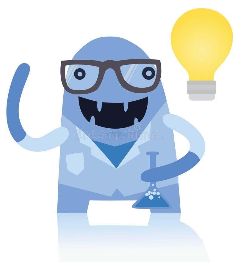 Scienziato Monster Making Discovery royalty illustrazione gratis
