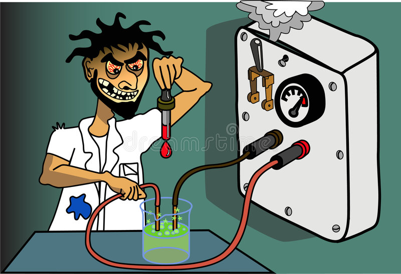 Scienziato pazzo illustrazione vettoriale