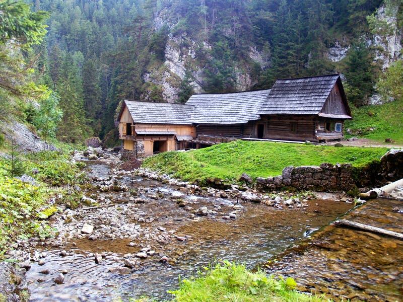 Scierie de l'eau - vallée de Kvacianska, Slovaquie photographie stock libre de droits