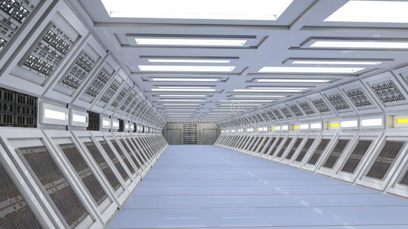 Download Scifi corridor stock illustration. Image of fantasy, communication - 34882064