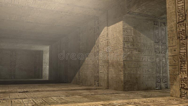 SCIFI do interior da pirâmide ilustração royalty free