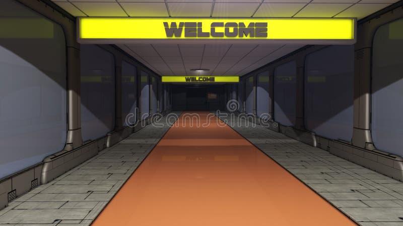 SCIFI futurista del pasillo stock de ilustración