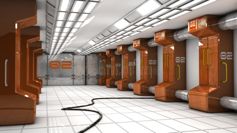 SCIFI futurista do corredor