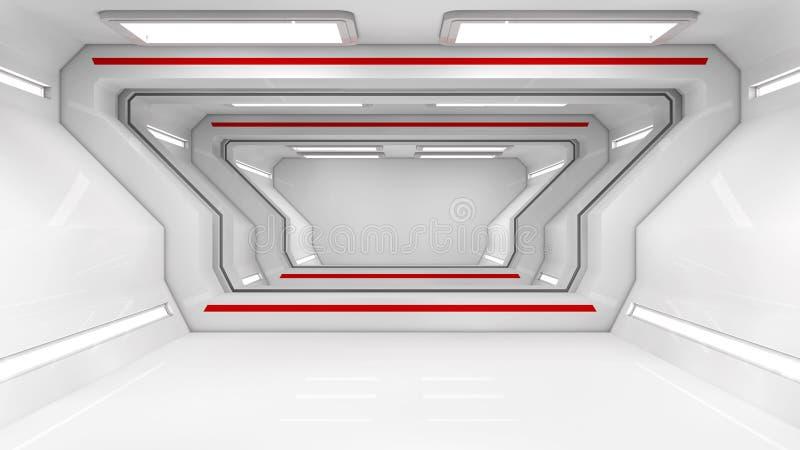 SCIFI futuriste de couloir illustration de vecteur