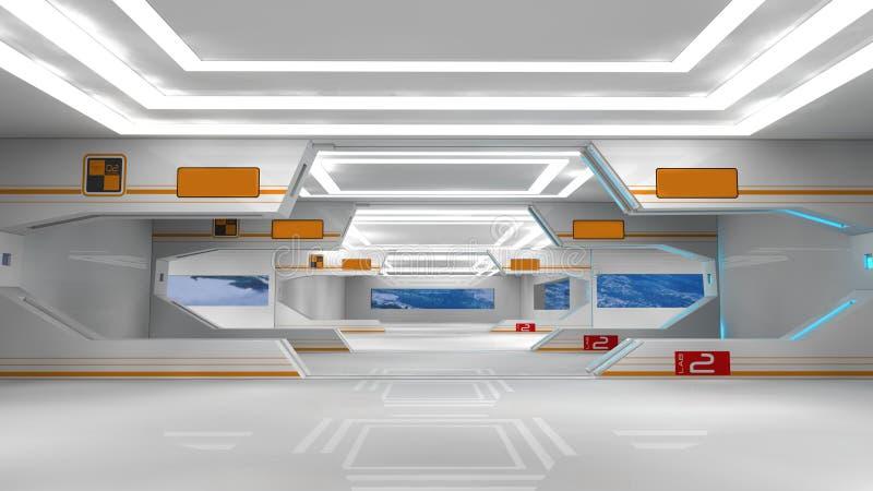 Scifi interior vector illustration