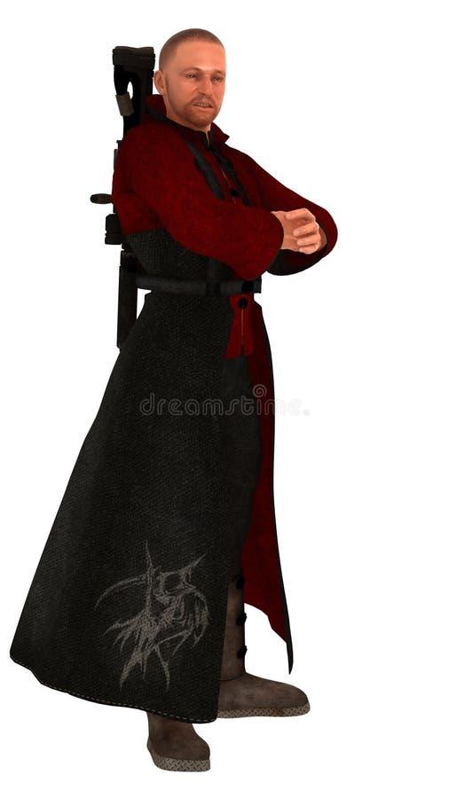 Scifi jurgieltnik z tylnym wspinającym się karabinem royalty ilustracja