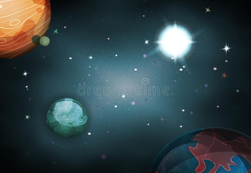 Scifi Space Background For Ui Game stock illustration