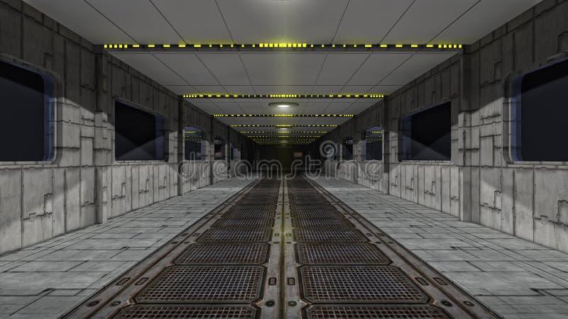 Scifikorridor stock abbildung