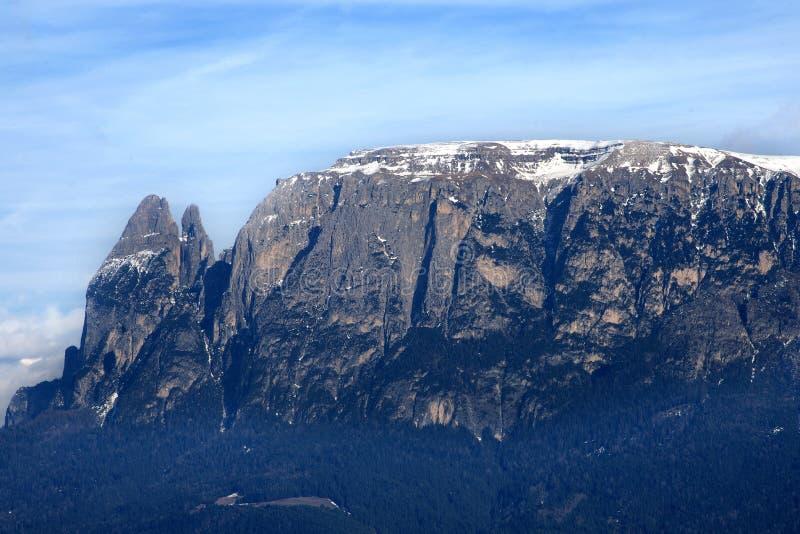Sciliar massif, Siusi alp, above Bolzano royalty free stock photos