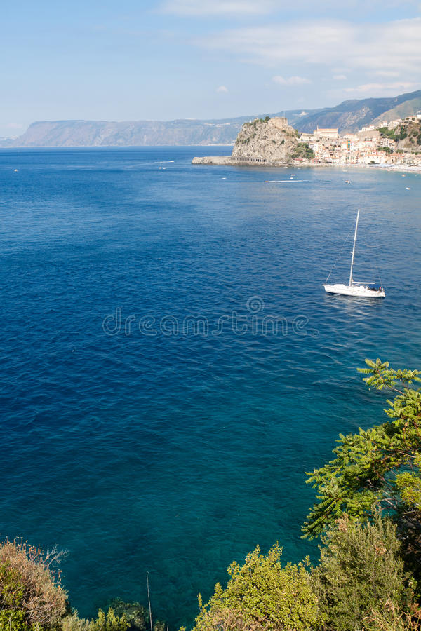 Download Scilla castle and sea bay stock image. Image of calabria - 22345673