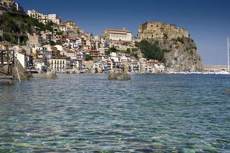 Scilla italian fishing village of Calabria stock photo