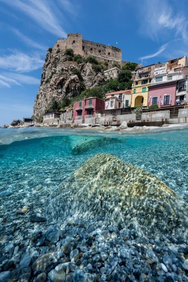 Scilla Süd-Italien - Kalabrien stockfoto