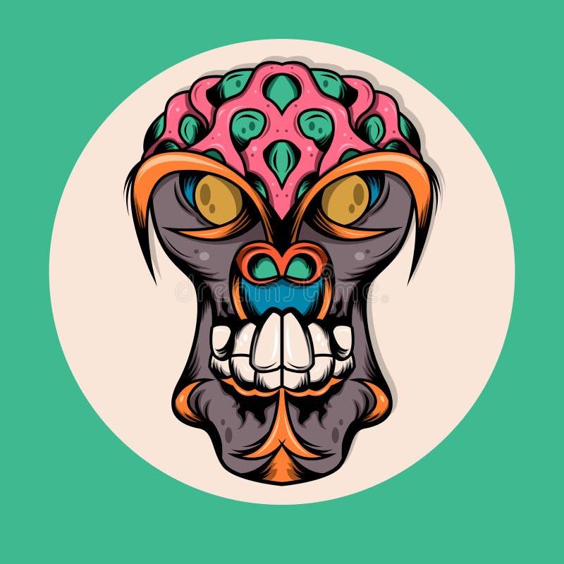 Scimmia Brain Illustration Monster royalty illustrazione gratis