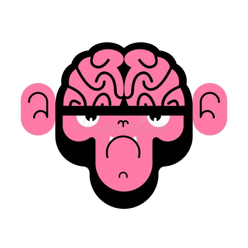 Scimmia con il cervello Gorilla con i cervelli Illustrazione di vettore illustrazione vettoriale