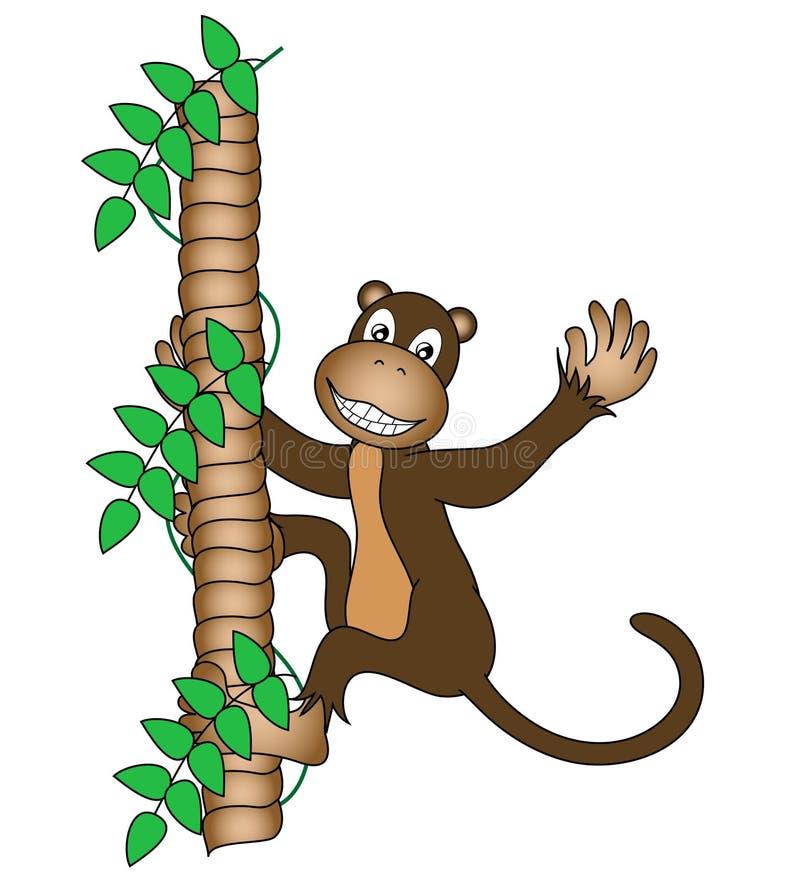 Scimmia con il grande sorriso royalty illustrazione gratis
