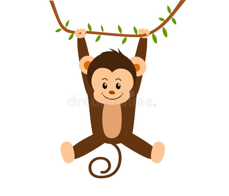 Scimmia d'oscillazione royalty illustrazione gratis