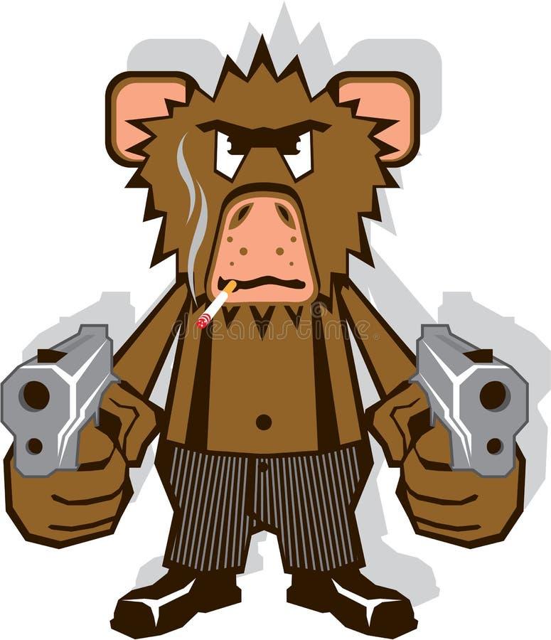 Scimmia di Gangsta royalty illustrazione gratis