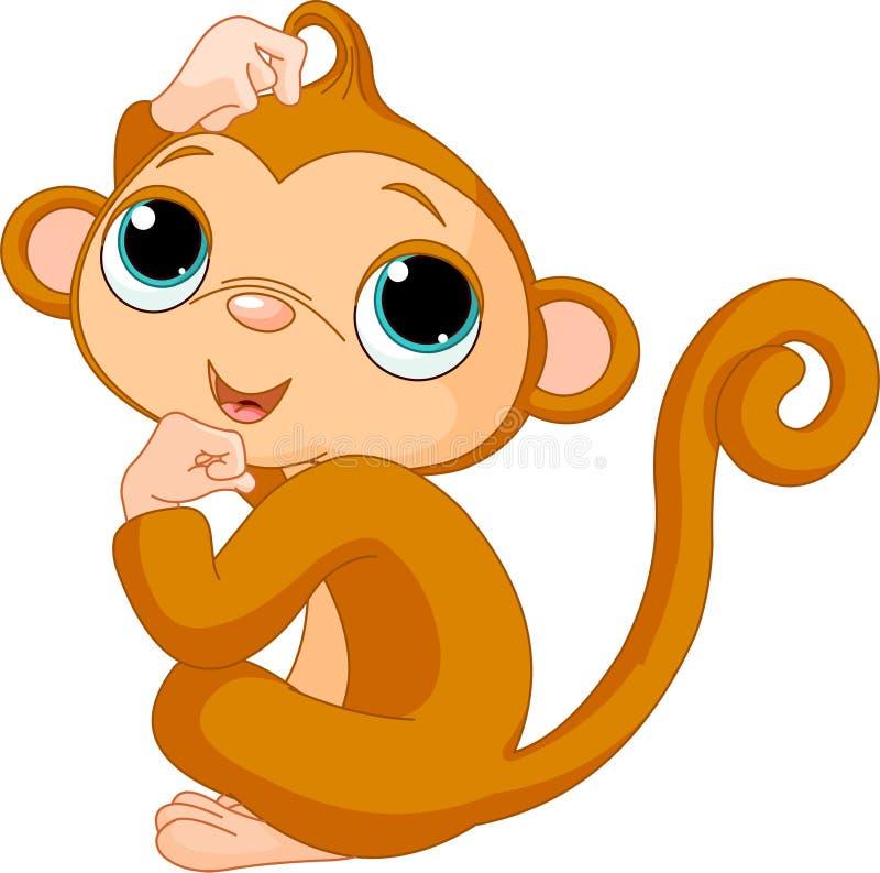 Scimmia di pensiero illustrazione vettoriale