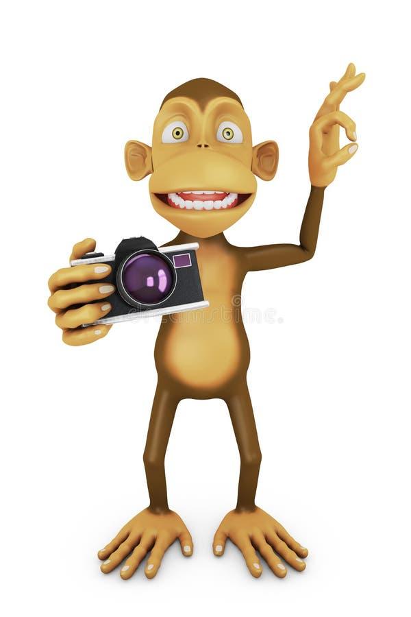 Scimmia divertente illustrazione di stock