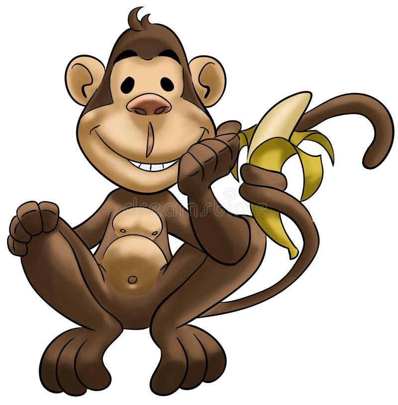 Scimmia felice illustrazione vettoriale