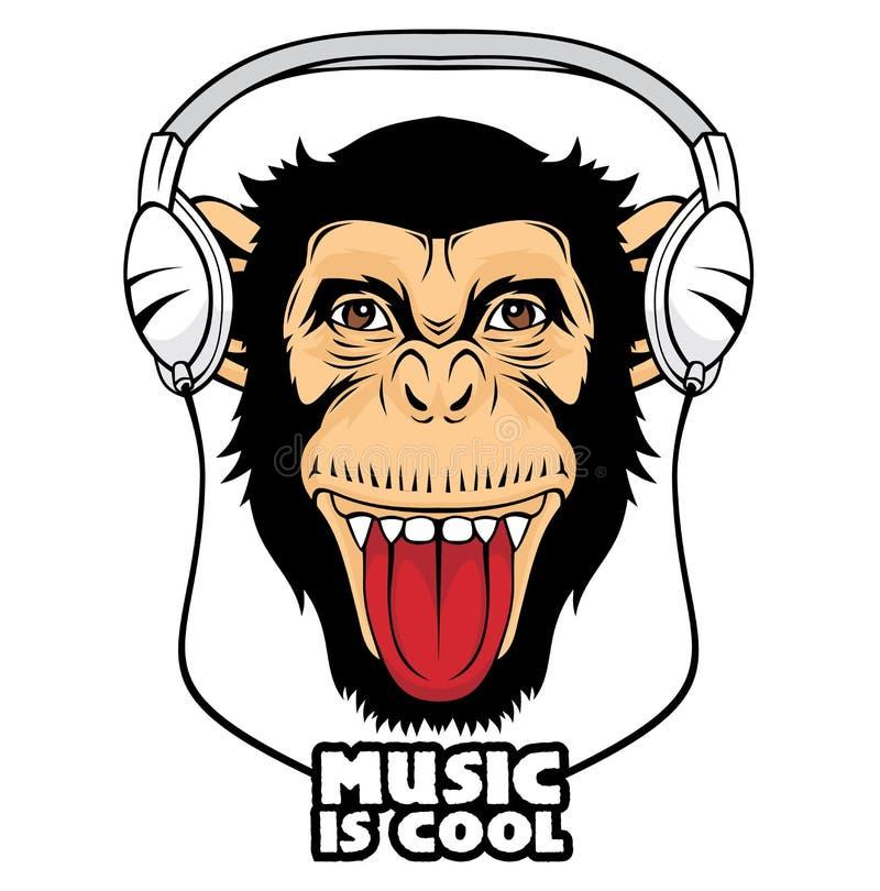 Scimmia fredda illustrazione di stock