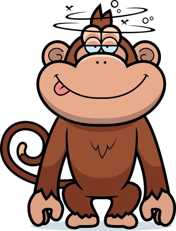 Scimmia stupida del fumetto illustrazione di stock