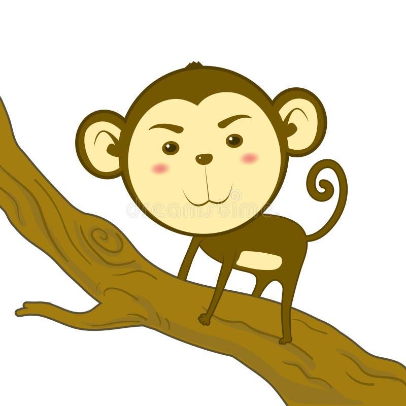 Scimmia sveglia illustrazione di stock
