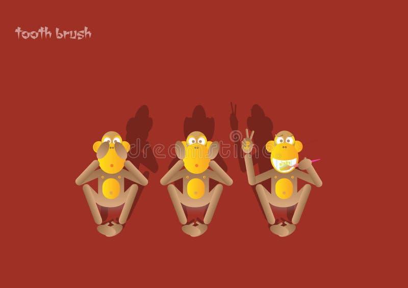 scimmia 1-the terzo illustrazione vettoriale