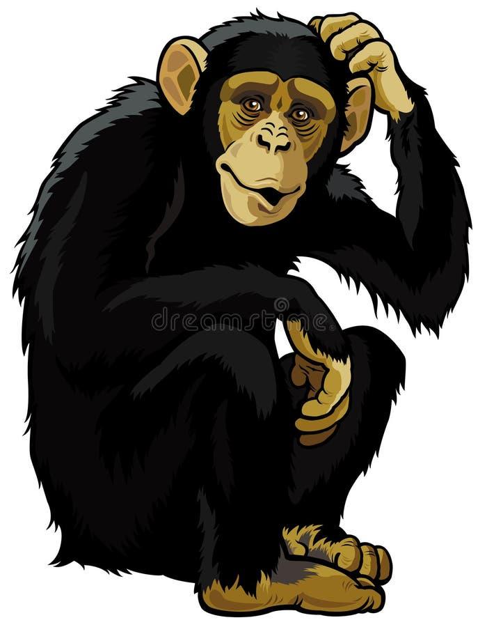 Scimpanzè royalty illustrazione gratis
