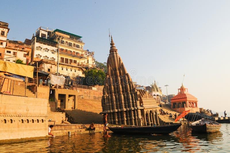 Scindhia Ghat at in Varanasi, India royalty-vrije stock foto's
