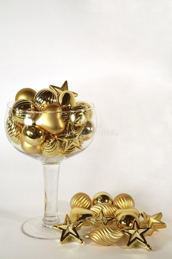 Scintilla dorata del champagne dell'ornamento fotografia stock
