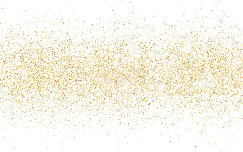 Scintilla dorata di scintillio su un fondo trasparente Fondo vibrante dell'oro con le luci di scintillio Illustrazione di vettore illustrazione vettoriale