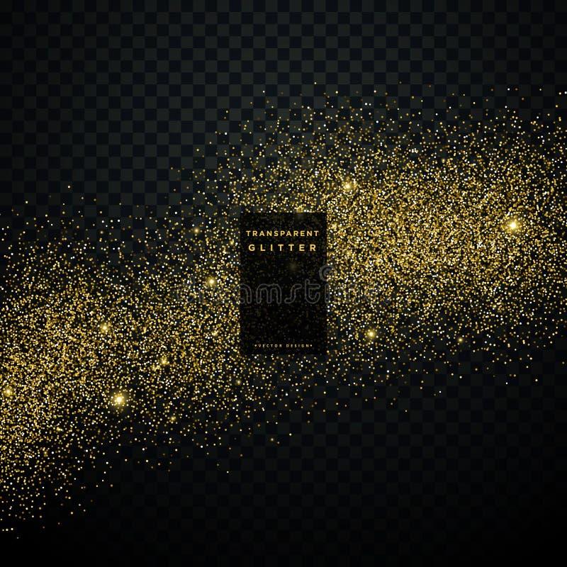 scintille brillanti della polvere di stella del fondo di scintillio dell'oro royalty illustrazione gratis
