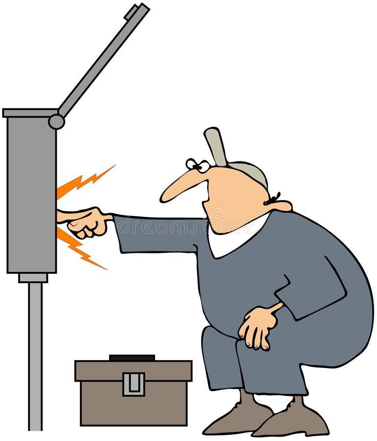 Scintille dell'elettricista illustrazione vettoriale