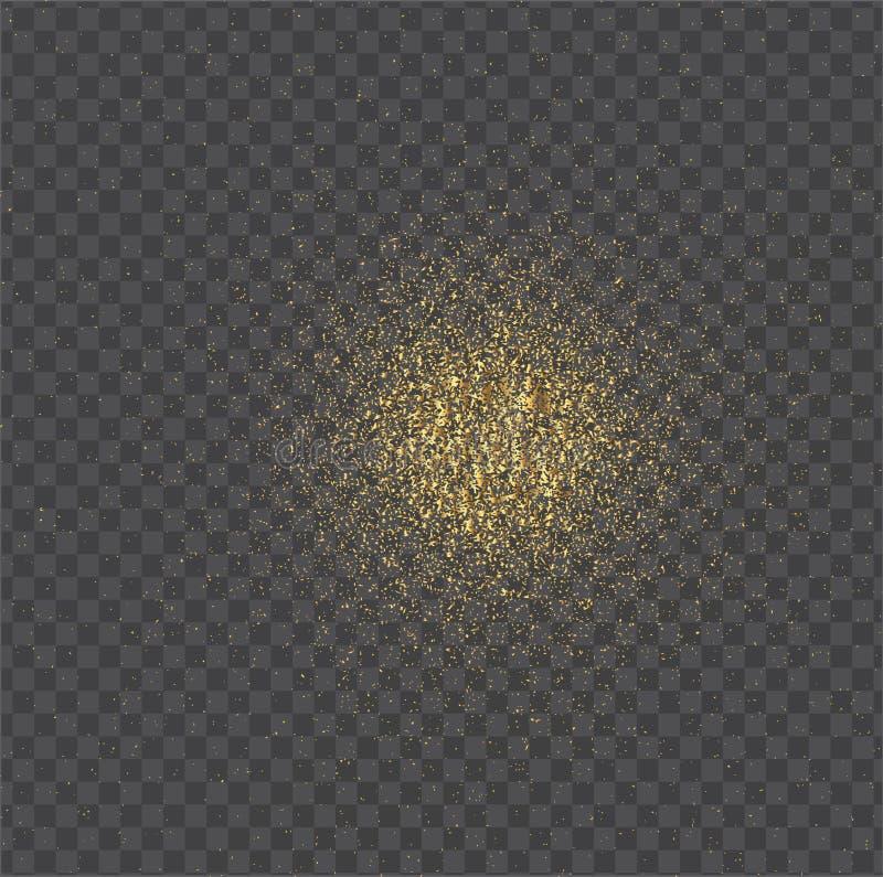 Scintille dell'oro isolate su fondo nero Modello di scintillio dell'oro Fondo di lusso per la carta, VIP, esclusiva, certificato, royalty illustrazione gratis