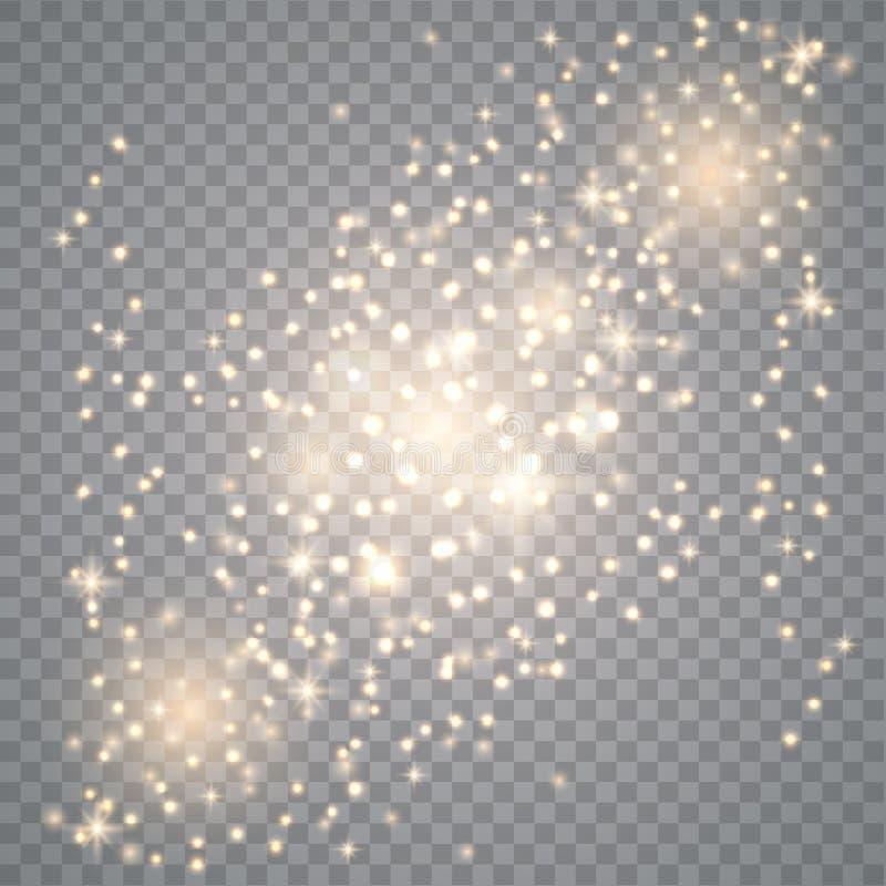 Scintille della polvere di stella illustrazione di stock