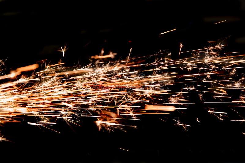 Scintille luminose di metallo fotografie stock libere da diritti