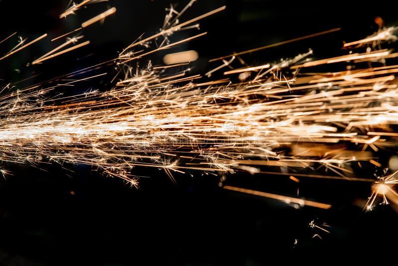 Scintille luminose di metallo fotografie stock