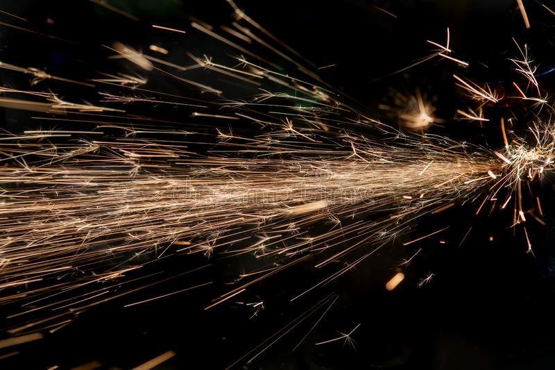 Scintille luminose di metallo immagini stock libere da diritti