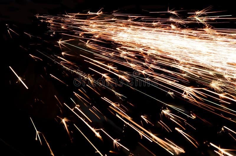 Scintille luminose di metallo fotografia stock