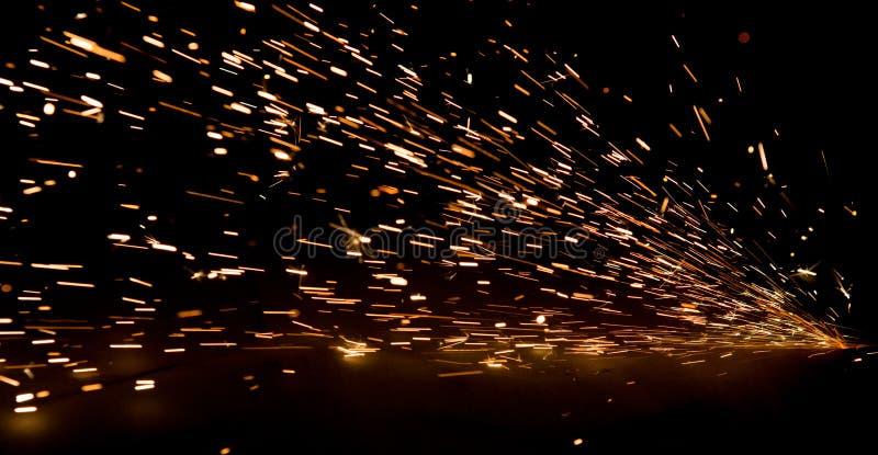 Scintille luminose di metallo immagine stock