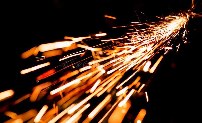 Scintille luminose di metallo fotografia stock libera da diritti