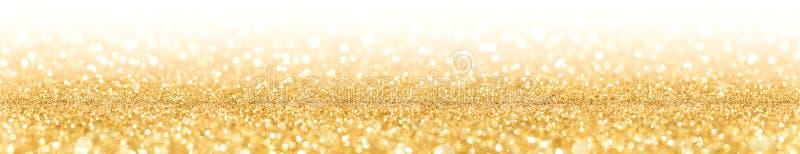 Scintillement d'or avec l'étincelle des lumières photo libre de droits