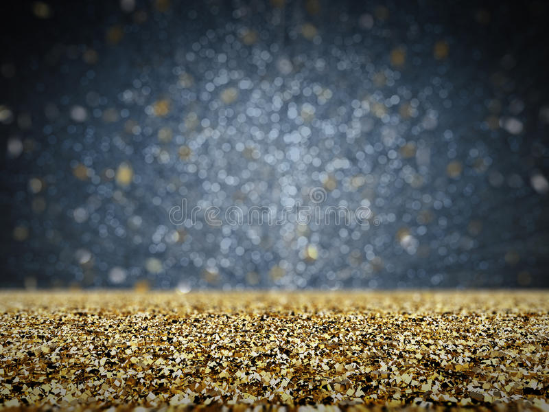 Scintillement d'or avec le fond de bokeh image stock