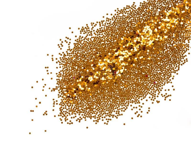 Scintillement d'or pour le maquillage de vacances photo libre de droits