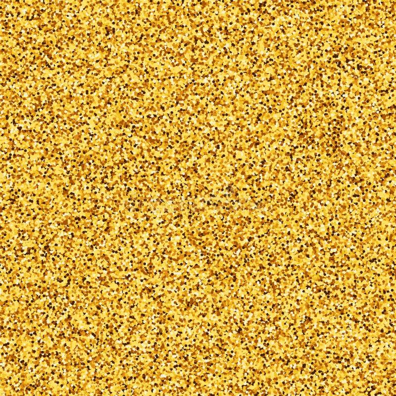 Scintillement d'or, texture d'or Placer jaune, illustration de vecteur